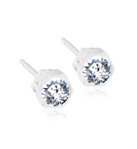 Blomdahl Örhängen 4 mm, Crystal