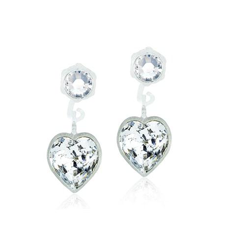 Blomdahl Örhängen Pendant Heart, Crystal 15-0103-2101