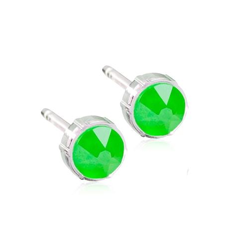Blomdahl Örhängen 6mm, Electric green