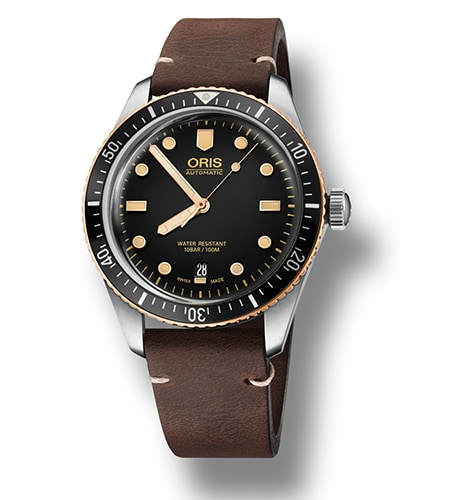 Oris Divers Sixty-Five 73377074354LSDARKBROWN