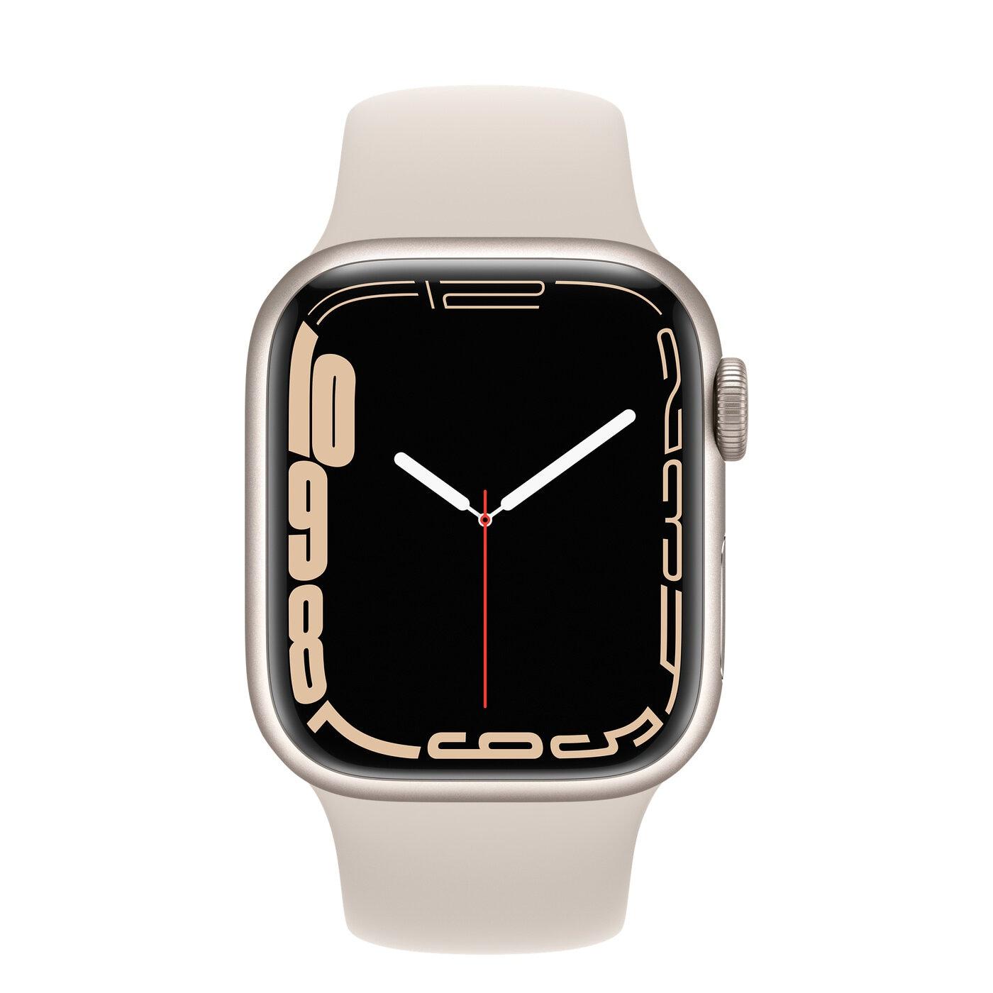 Apple Watch Series 7 Aluminiumboett, Sportband - Stjärnglans