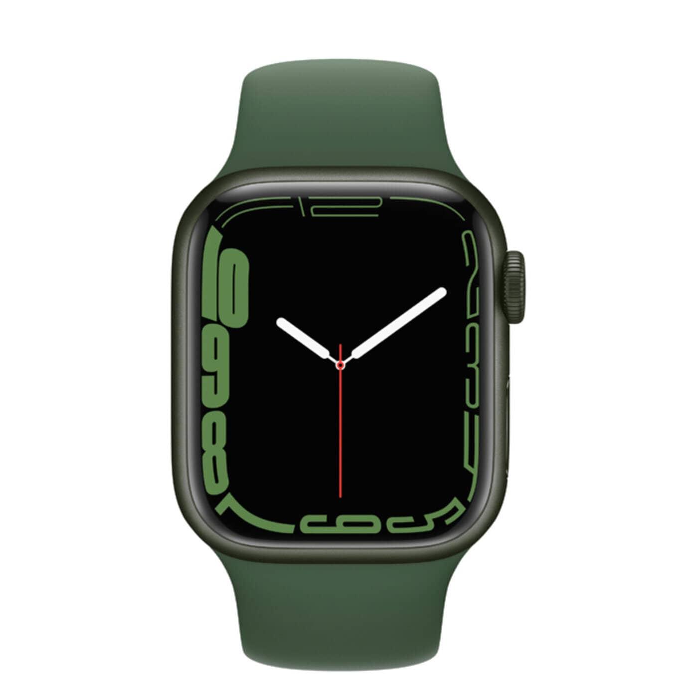 Apple Watch Series 7 Aluminiumboett, Sportband -Grön