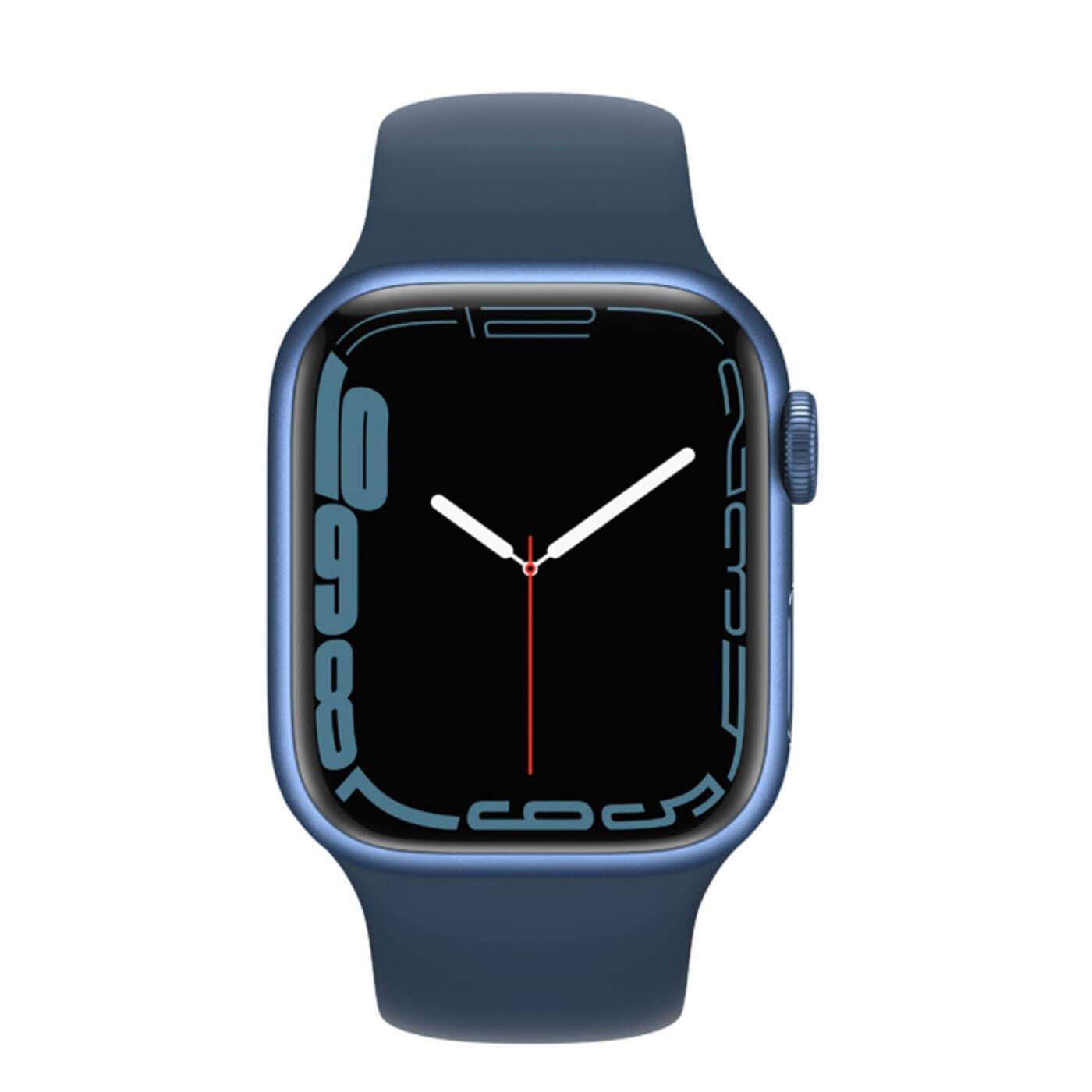 Apple Watch Series 7 Aluminiumboett, Sportband - Blå