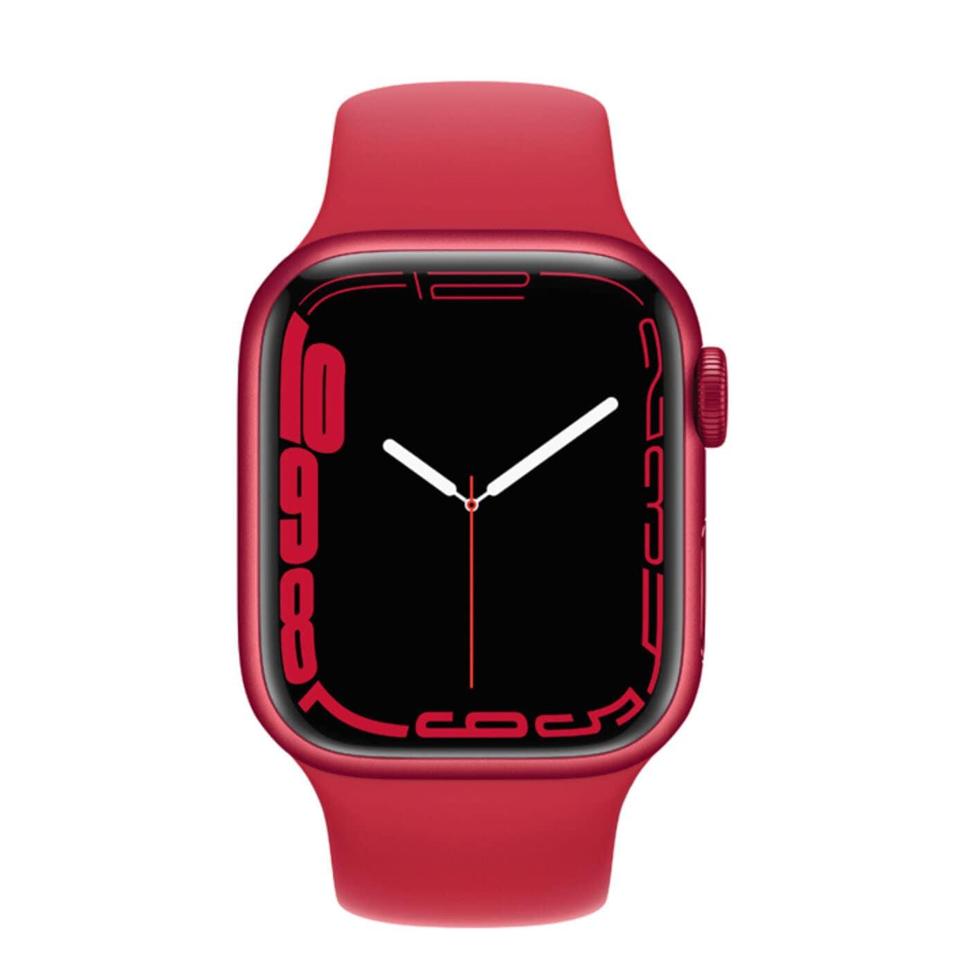 Apple Watch Series 7 Aluminiumboett, Sportband - Röd