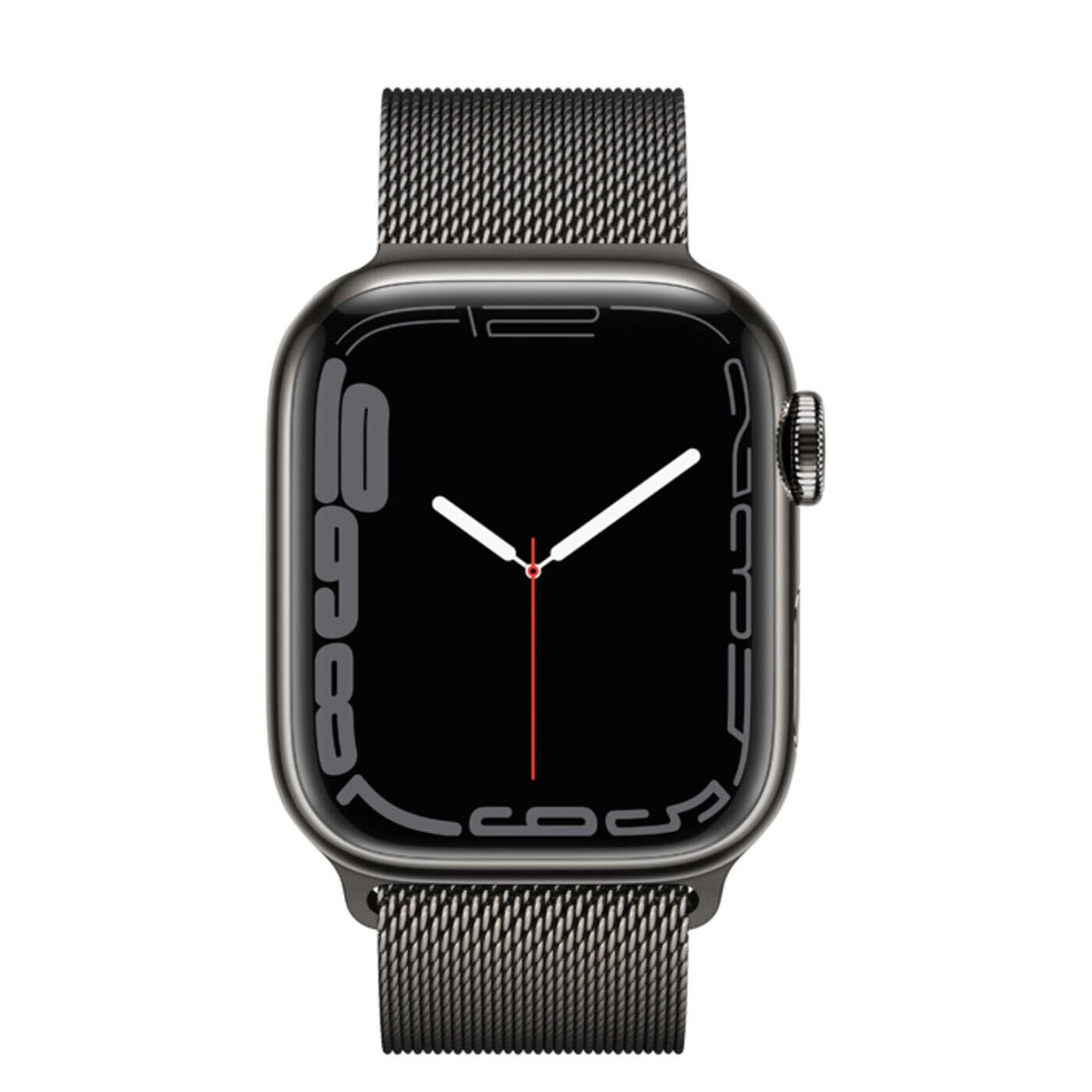 Apple Watch Series 7 Rostfri stålboett med Milaneselänk - Grafit
