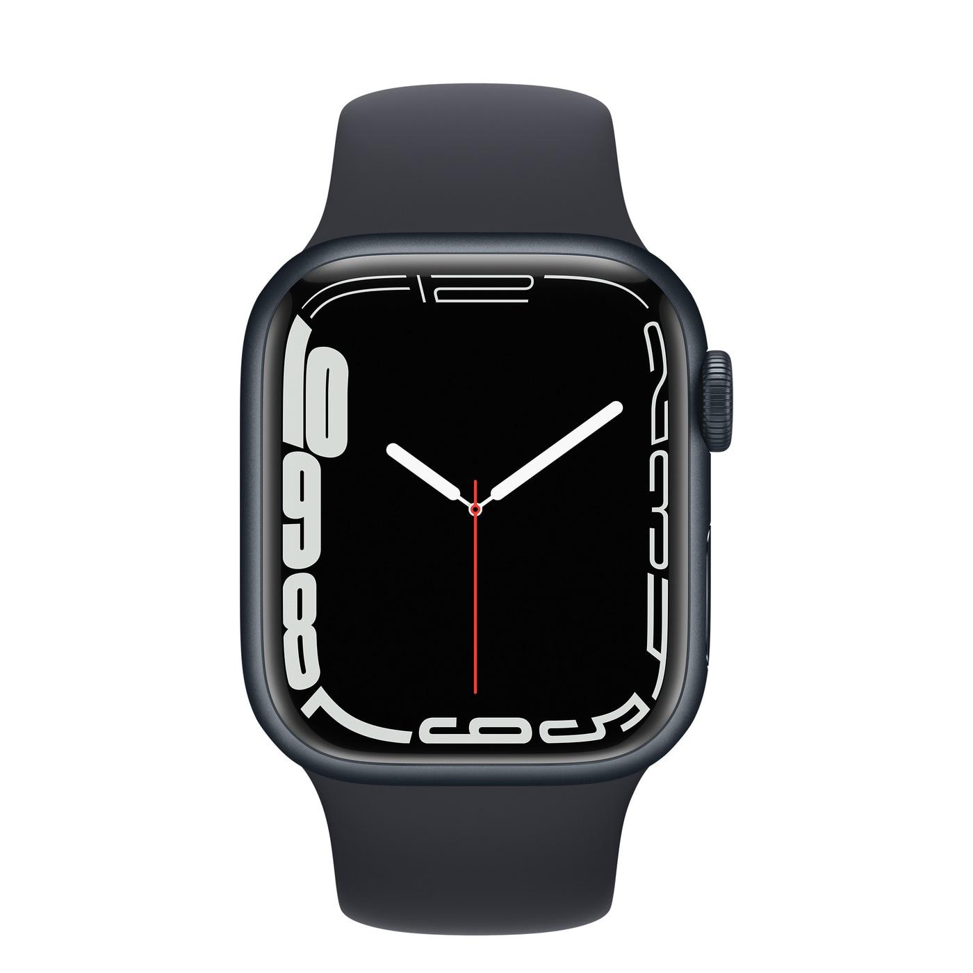 Apple Watch Series 7 Aluminiumboett, Sportband - Midnatt